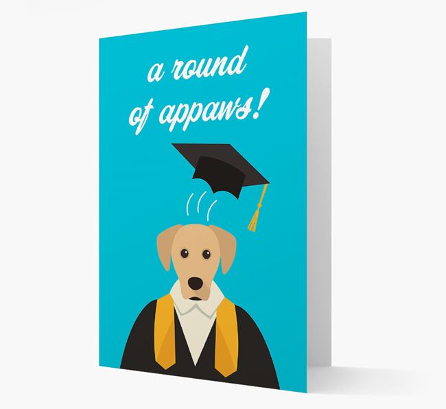 'A Round of Appaws!' - Personalized Blue Lacy Card