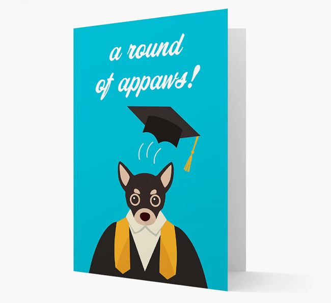 'A Round of Appaws!' - Personalised Chihuahua Card
