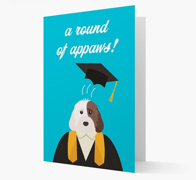 'A Round of Appaws!' - Personalised Cockapoo Card