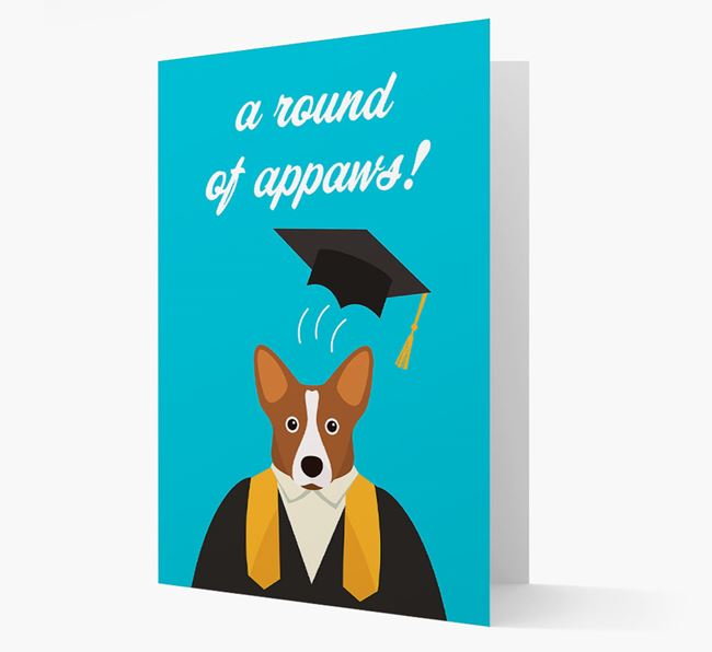 'A Round of Appaws!' - Personalised Corgi Card