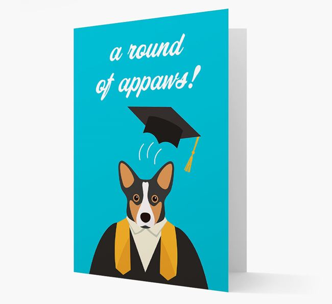 'A Round of Appaws!' - Personalized Corgi Card