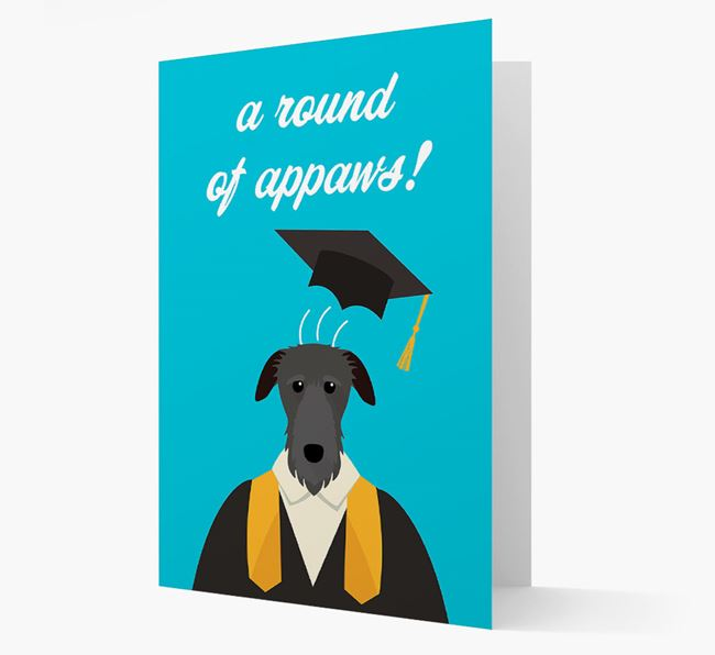 'A Round of Appaws!' - Personalized Deerhound Card