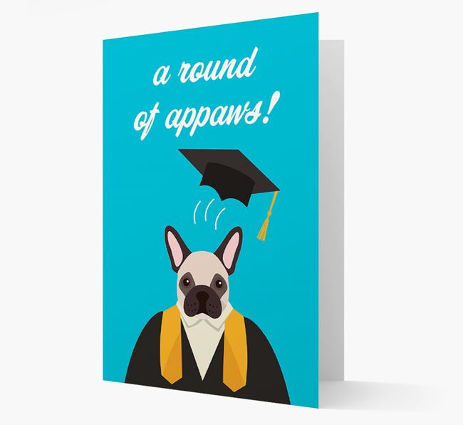 'A Round of Appaws!' - Personalised French Bulldog Card
