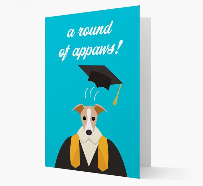 'A Round of Appaws!' - Personalized Greyhound Card