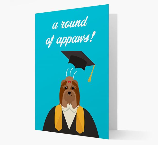 'A Round of Appaws!' - Personalised Lhasa Apso Card