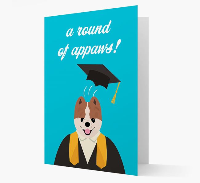 'A Round of Appaws!' - Personalised Pomeranian Card
