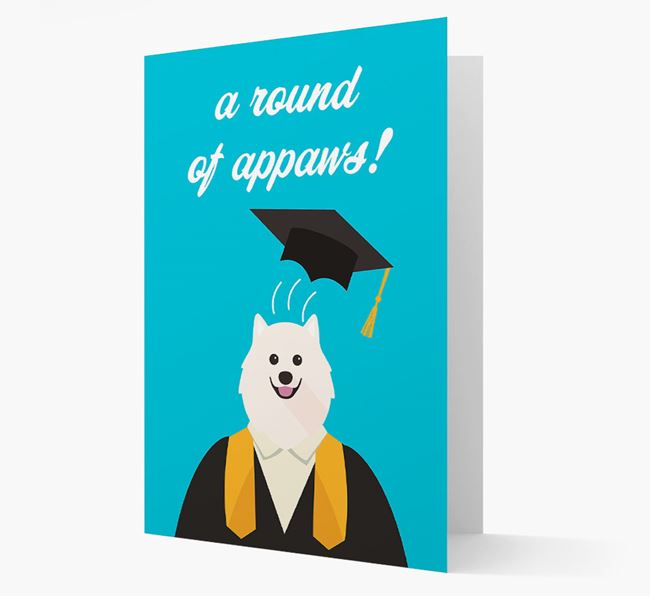 'A Round of Appaws!' - Personalized Samoyed Card