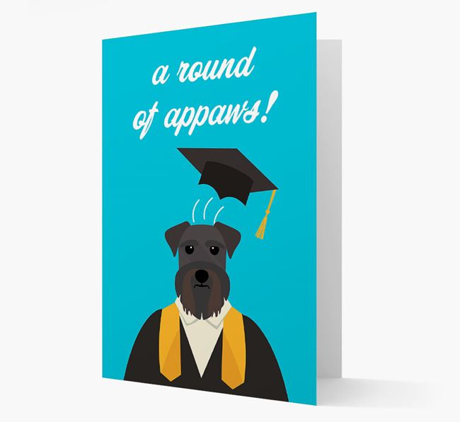'A Round of Appaws!' - Personalized Schnauzer Card