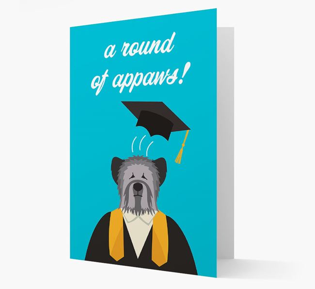'A Round of Appaws!' - Personalized Skye Terrier Card