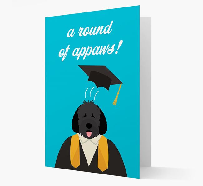 'A Round of Appaws!' - Personalized Spanish Water Dog Card