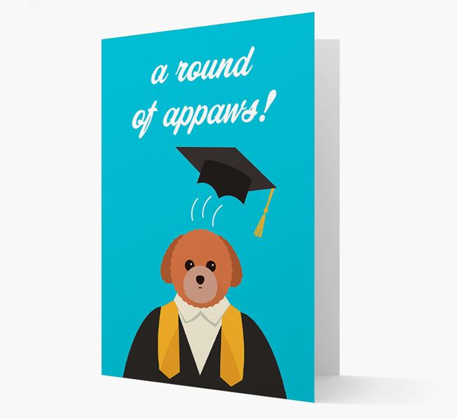 'A Round of Appaws!' - Personalized Toy Poodle Card