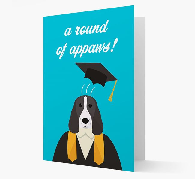 'A Round of Appaws!' - Personalized Welsh Springer Spaniel Card