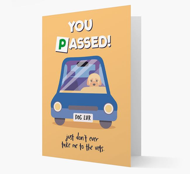 'You Passed' - Personalized Bich-poo Card