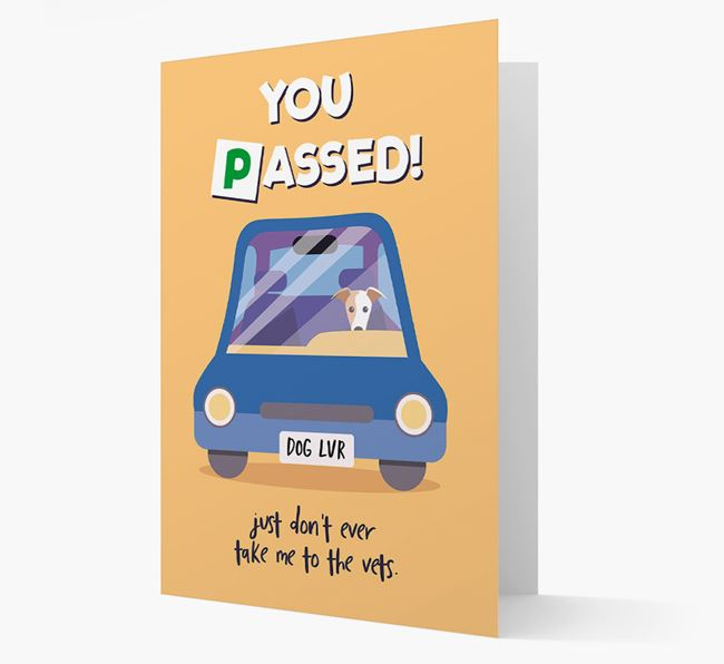 'You Passed' - Personalized Greyhound Card