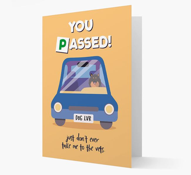 'You Passed' - Personalized Pomeranian Card