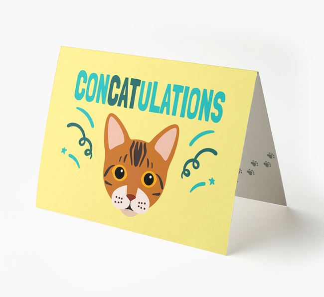 'ConCATulations!' - Personalized Bengal Card