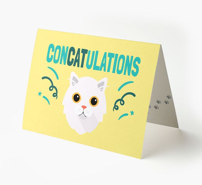 'ConCATulations!' - Personalized Cat Card