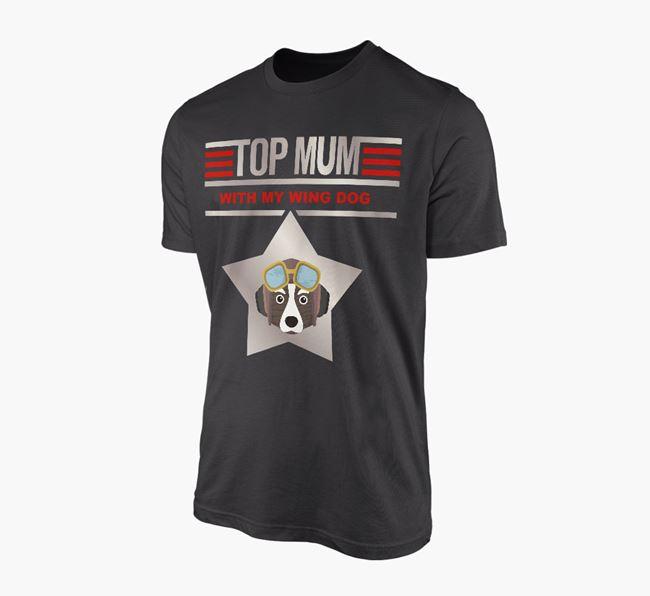 'Top Mum' - Personalised Corgi Adult T-shirt