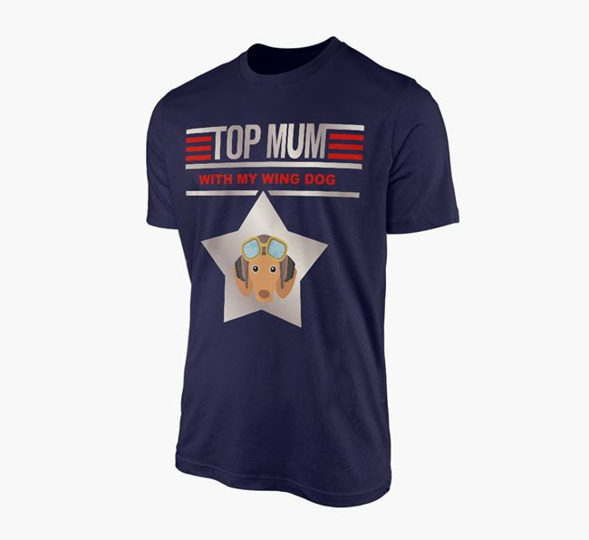 'Top Mum' - Personalised Dachshund Adult T-shirt