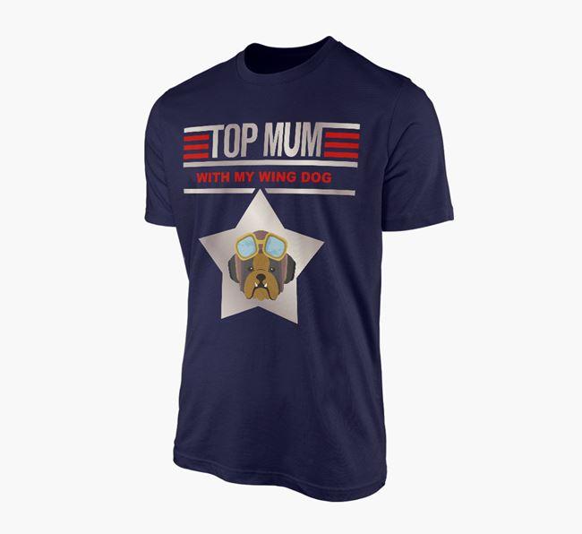 'Top Mum' - Personalised English Bulldog Adult T-shirt