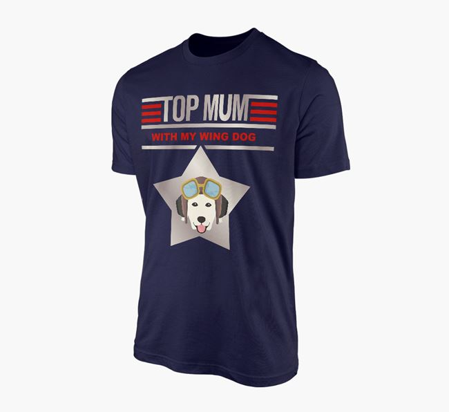 'Top Mum' - Personalised Golden Retriever Adult T-shirt