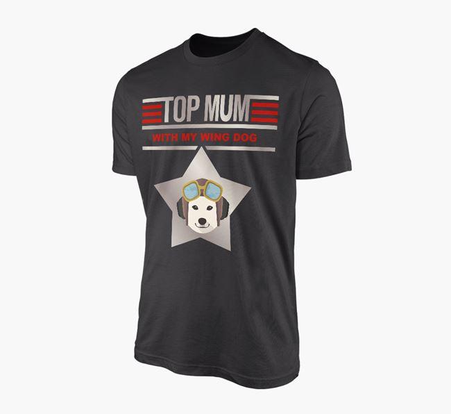 'Top Mum' - Personalised Japanese Shiba Adult T-shirt