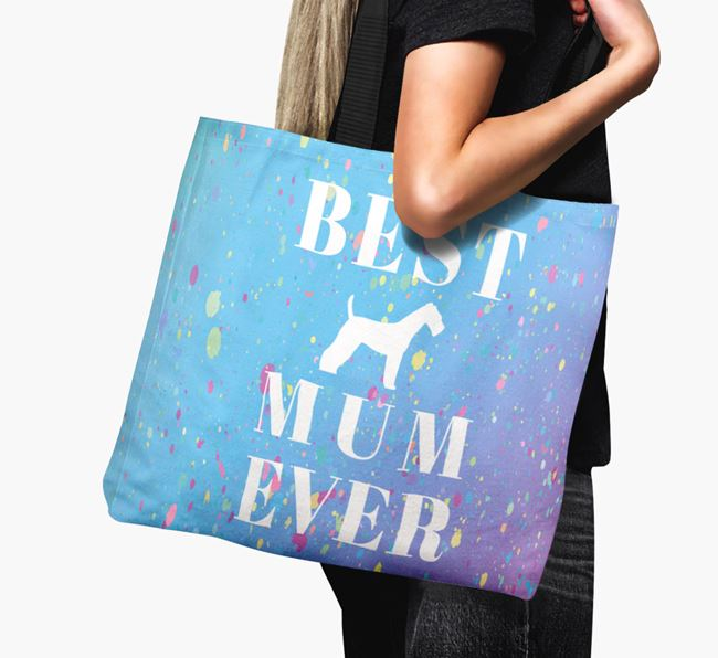 'Best Airedale Mum Ever' Canvas Bag