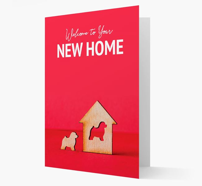 'Welcome to You New Home' - Toy Poodle Card