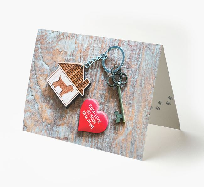 'Home, Heart, Keys - Good Luck in Your New Home' - Bichon Yorkie Card