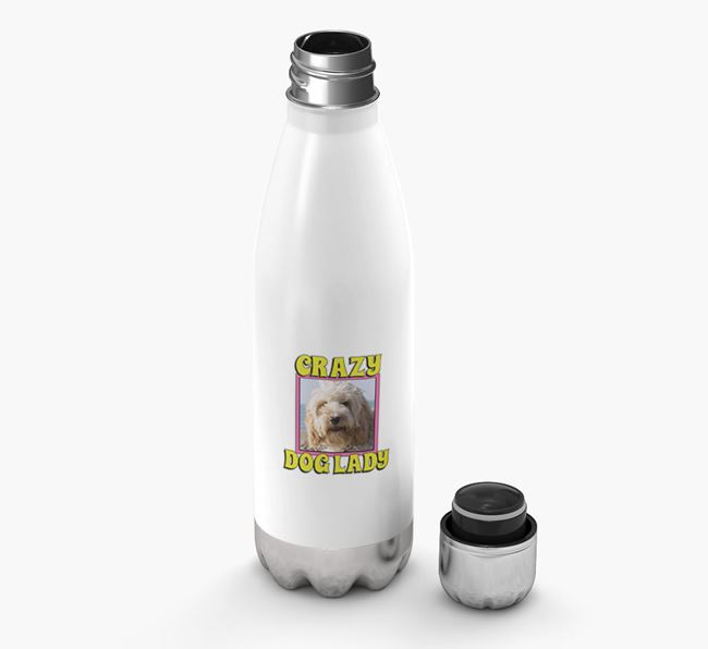 'Crazy Dog Lady' - Personalized Cockapoo Water Bottle