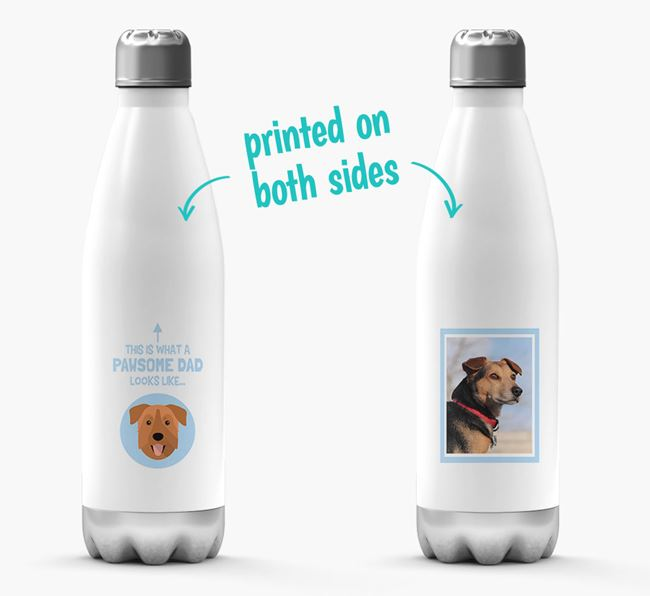 'Pawsome Dad...' - Personalized Chinook Water Bottle