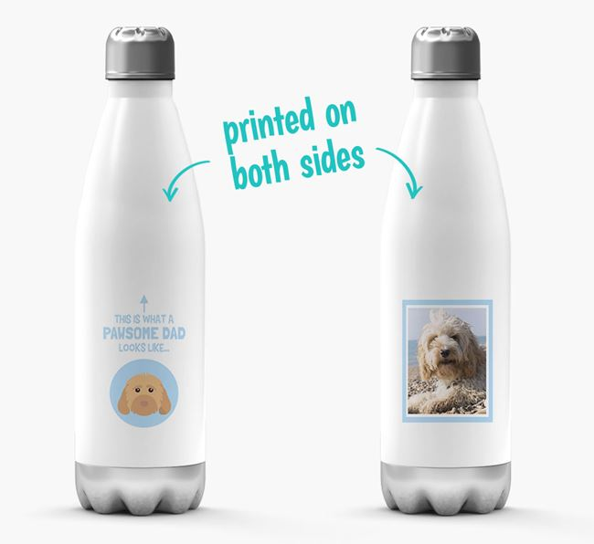 'Pawsome Dad...' - Personalized Cockapoo Water Bottle