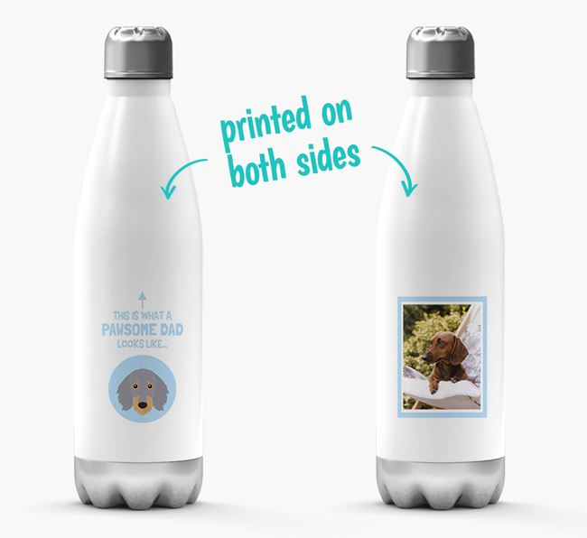 'Pawsome Dad...' - Personalized Dachshund Water Bottle