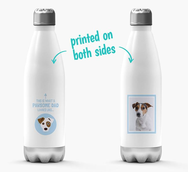 'Pawsome Dad...' - Personalized Dog Water Bottle