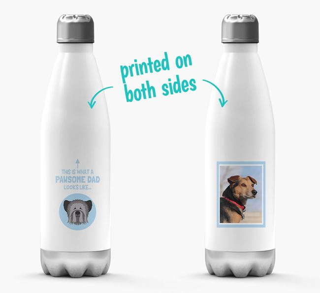 'Pawsome Dad...' - Personalized Skye Terrier Water Bottle