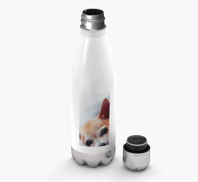 Photo Upload - Personalised Chihuahua Water Bottle