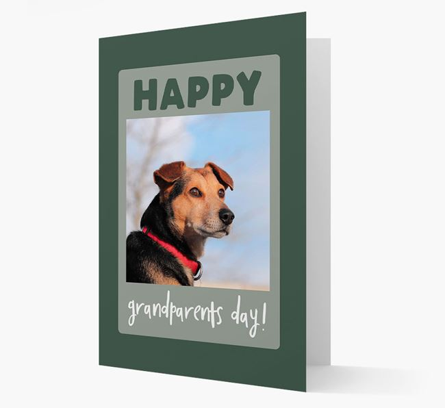 'Happy Grandparent's Day!' - Photo Upload Blue Lacy Card