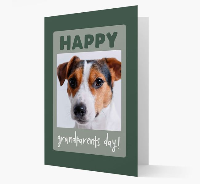 'Happy Grandparent's Day!' - Photo Upload Jack Russell Terrier Card