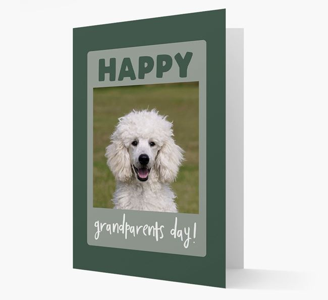 'Happy Grandparent's Day!' - Photo Upload Poodle Card