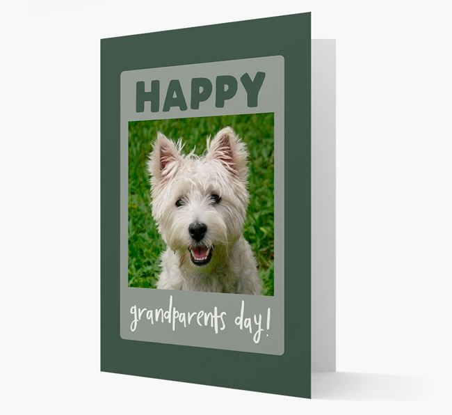 'Happy Grandparent's Day!' - Photo Upload West Highland White Terrier Card