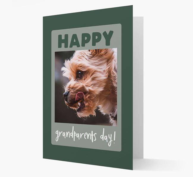 'Happy Grandparent's Day!' - Photo Upload Yorkshire Terrier Card