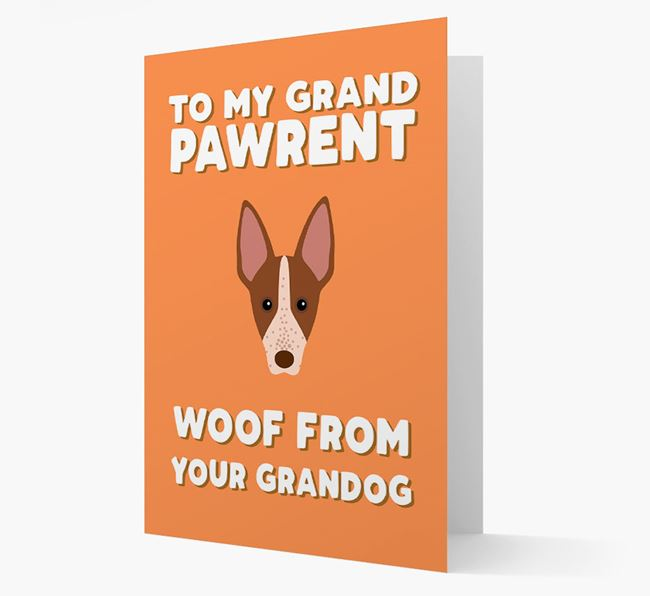 'To My Grandpawrent' - Personalized American Hairless Terrier Card