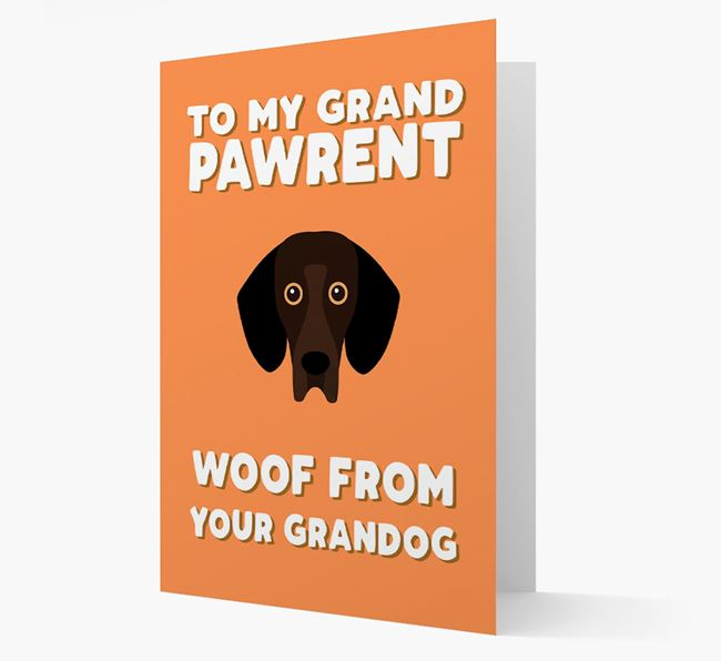 'To My Grandpawrent' - Personalized Bassador Card