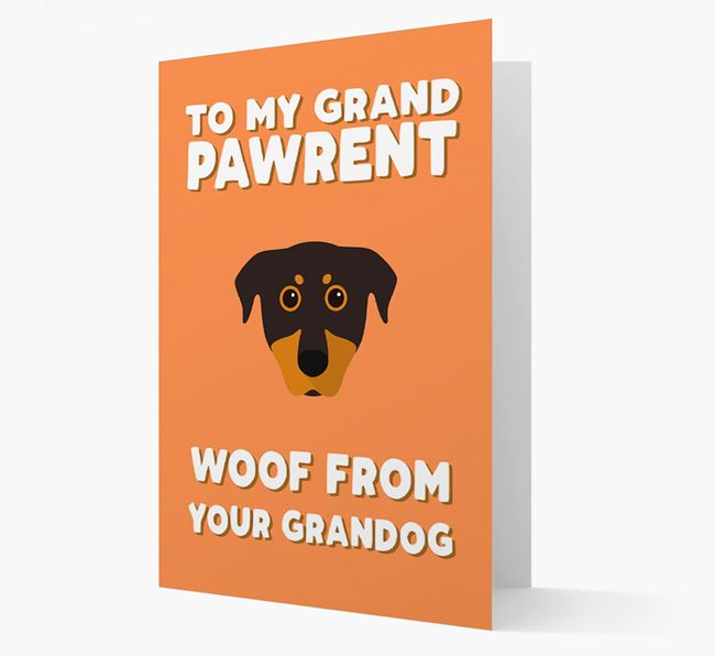 'To My Grandpawrent' - Personalized Beauceron Card