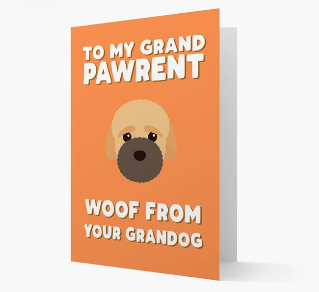'To My Grandpawrent' - Personalized Bich-poo Card