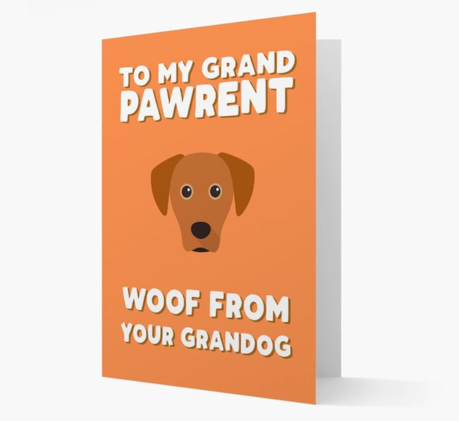 'To My Grandpawrent' - Personalized Blue Lacy Card
