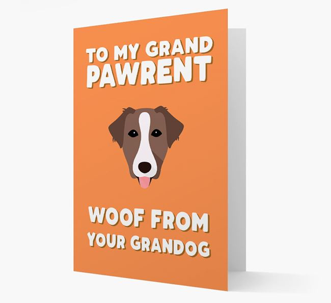 'To My Grandpawrent' - Personalized Borador Card