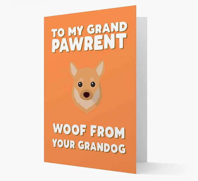 'To My Grandpawrent' - Personalised Chihuahua Card