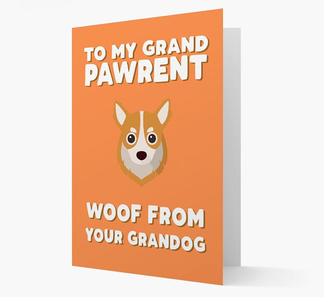 'To My Grandpawrent' - Personalized Chihuahua Card