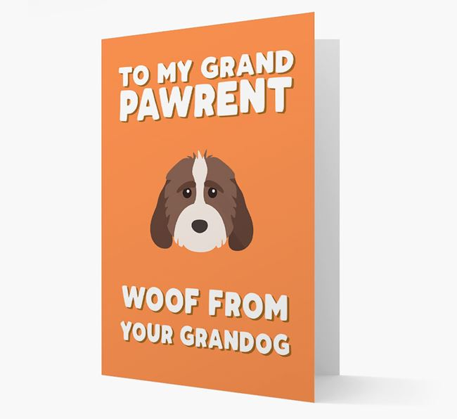 'To My Grandpawrent' - Personalised Cockapoo Card